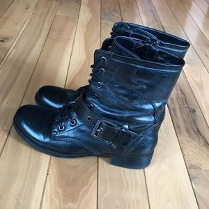 Black Combat Boots (G by Guess, 8)